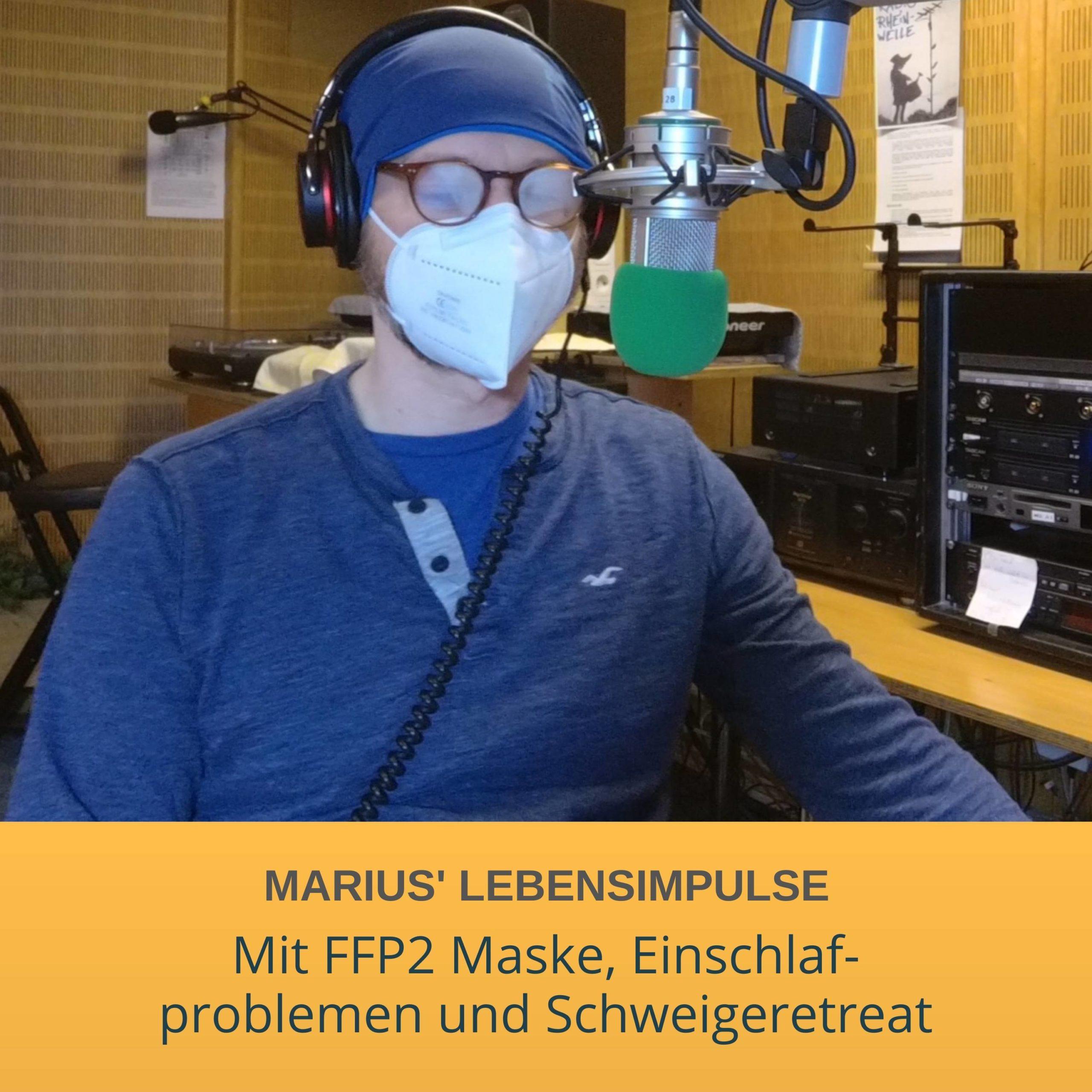 Mit FFP2 Maske, Einschlaf- problemen und Schweigeretreat